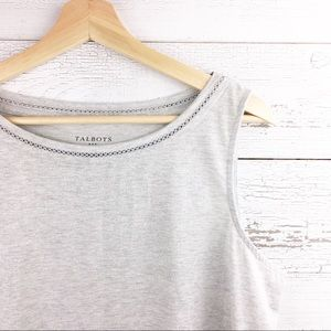 🐢 TALBOTS Silver Metallic Gray Tank Top Blouse